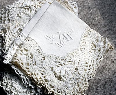 vintage linen and lace